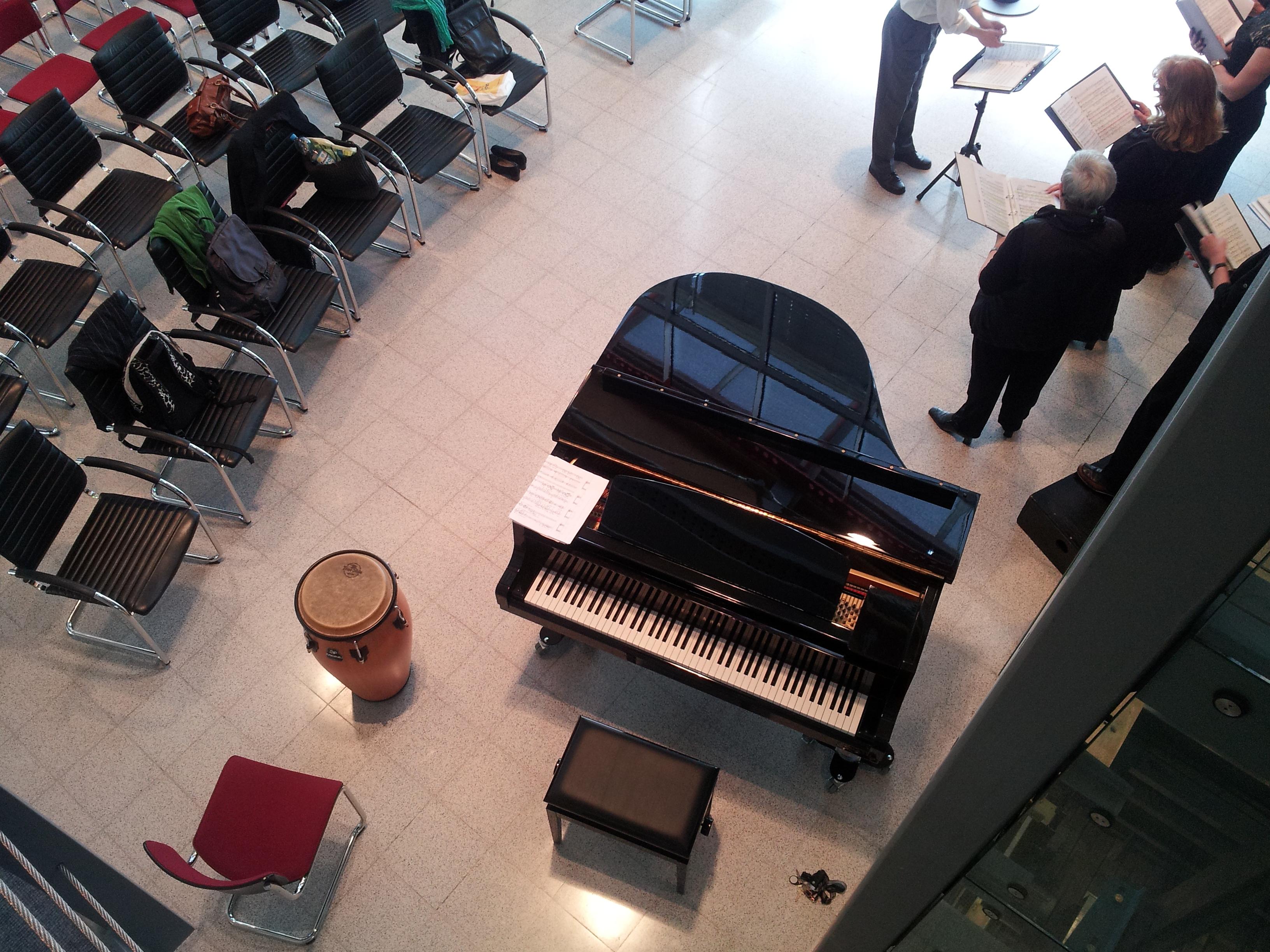 Der Pianist vor dem Auftritt
